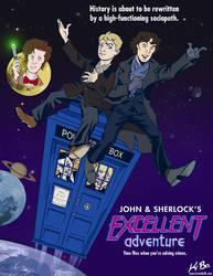 John and Sherlock's Excellent Adventure by kevinbolk