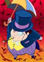 Bat-Villains: The Penguin Art Card by kevinbolk