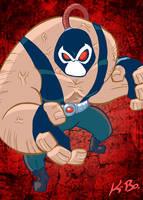 Bat-Villains: Bane Art Card by kevinbolk