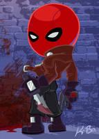 Bat-Villains: Red Hood Art Card by kevinbolk