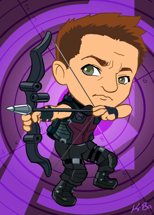 Avengers Hawkeye Art Card by kevinbolk