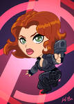 Avengers Black Widow Art Card