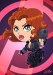 Avengers Black Widow Art Card