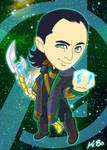 Avengers Loki Art Card
