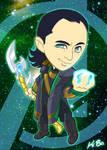 Avengers Loki Art Card