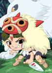 Studio Ghibli: Princess Mononoke San Art Card