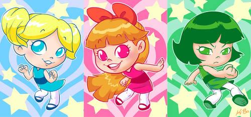 The Powerpuff Girls Art Card Set by K-Bo.