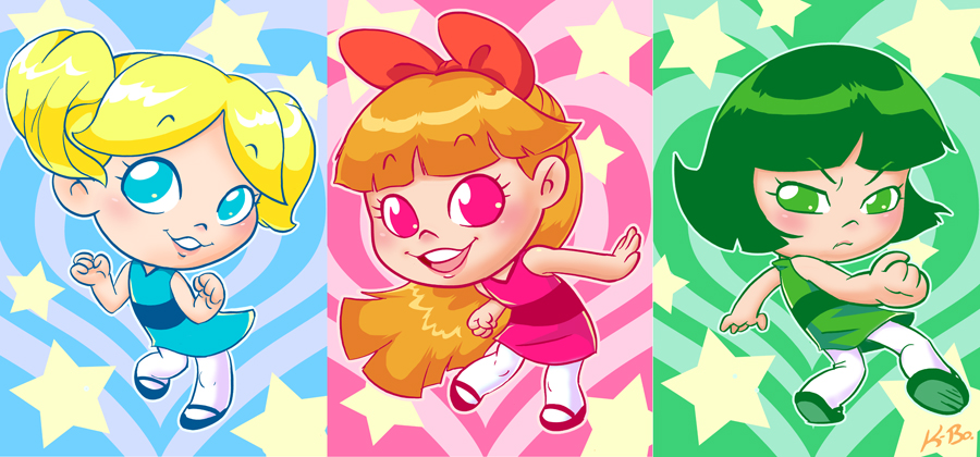 The Powerpuff Girls Art Card Set by K-Bo. by kevinbolk