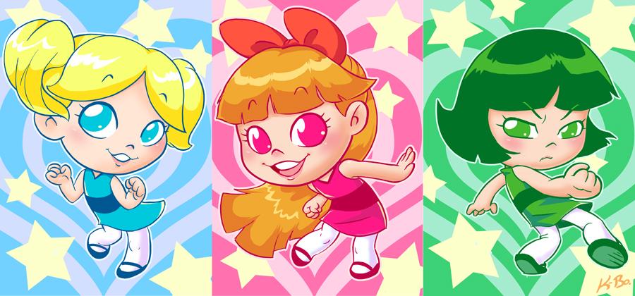 The Powerpuff Girls Art Card Set by K-Bo. by kevinbolk