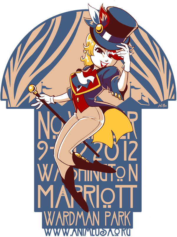 Anime USA 2012 T-shirt Design by kevinbolk