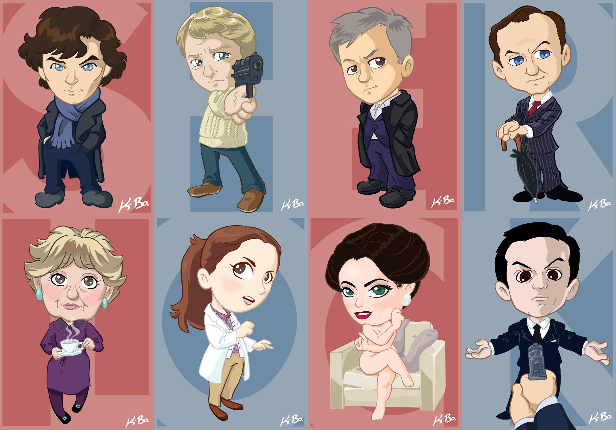BBC Sherlock Art Card Set by kevinbolk