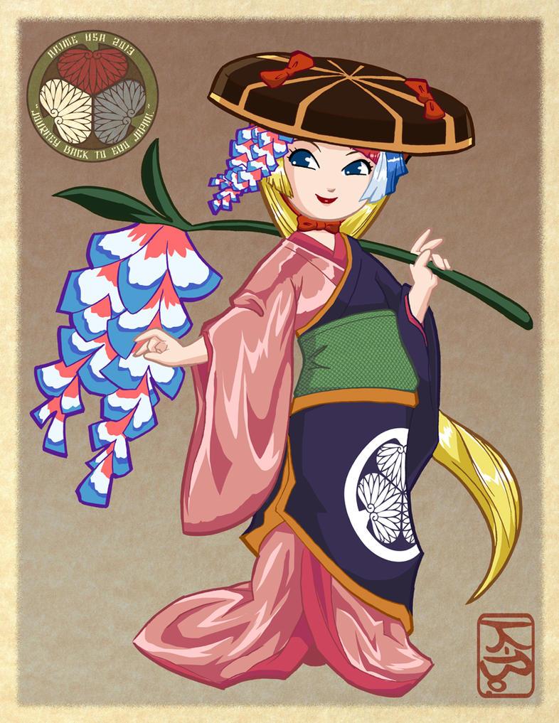 AnimeUSA 2013 Kaede Mascot Design by kevinbolk