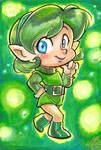 Legend of Zelda Ocarina of Time Saria Art Card
