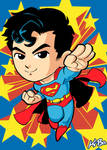 Superman Art Card by K-Bo.