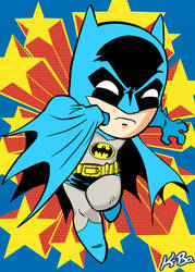 Super Powers Batman Art Card by K-Bo. by kevinbolk