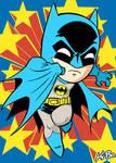 Super Powers Batman Art Card by K-Bo.