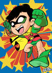 Super Powers Robin Art Card by K-Bo.