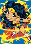 Wonder Woman Art Card by K-Bo.