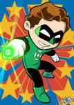 Super Powers Green Lantern Hal Jordan Art Card