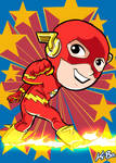 Super Powers The Flash Art Card by K-Bo.