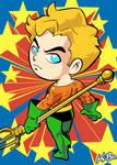 Super Powers Aquaman Art Card by K-Bo.