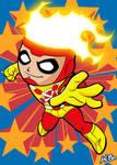 Super Powers Firestorm Art Card by K-Bo.