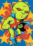 Super Powers Martian Manhunter Art Card by K-Bo.