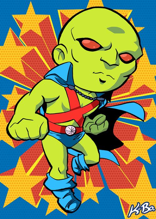 Super Powers Martian Manhunter Art Card by K-Bo. by kevinbolk