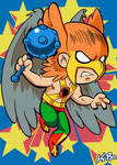 Super Powers Hawkman Art Card by K-Bo.
