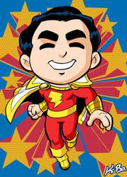 Super Powers Shazam Captain Marvel Art Card by kevinbolk