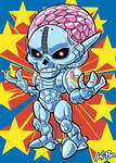 Super Powers Brainiac Art Card by K-Bo.