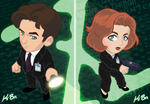 The X-Files Mulder and Scully Art Cards