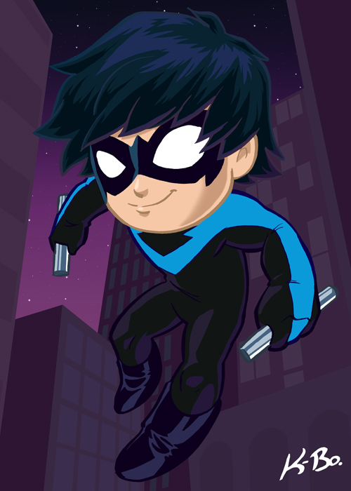 Dick Grayson Nightwing Art Card by kevinbolk