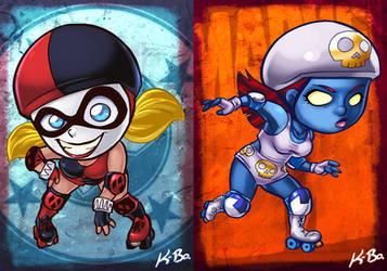 DC VS Marvel Roller Derby: Harley Quinn/Mystique