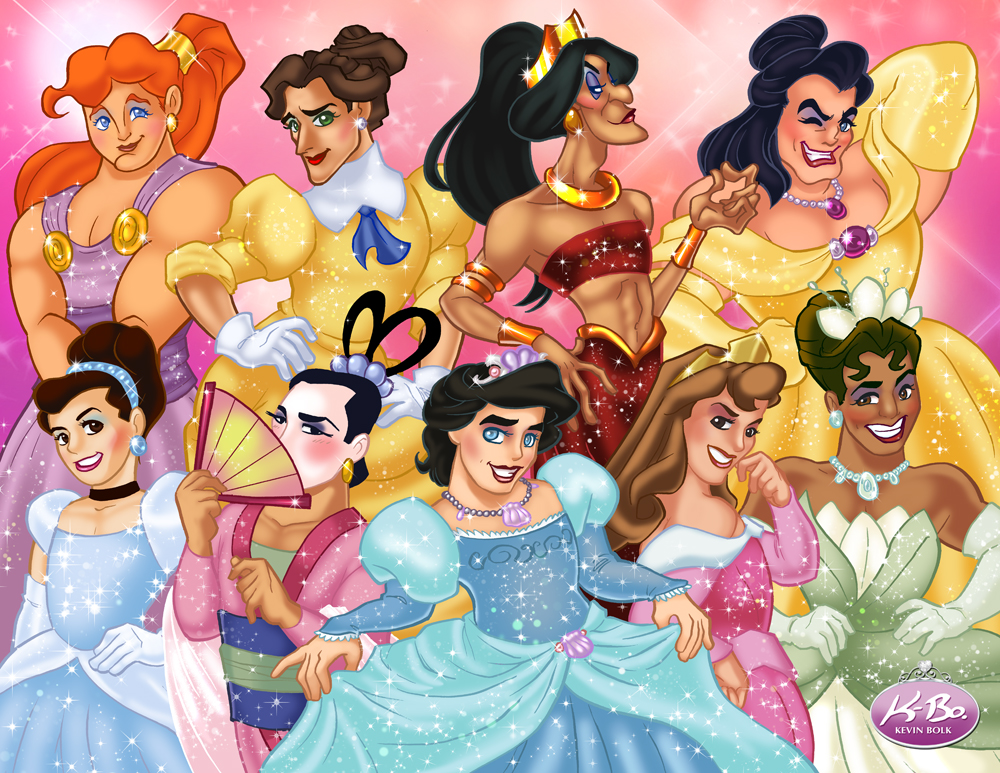 Disney Queens by kevinbolk