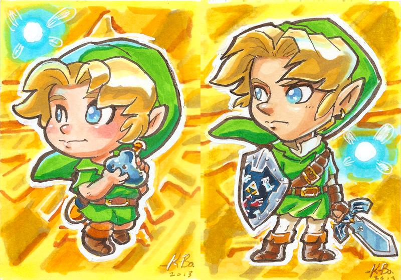 Legend of Zelda Ocarina of Time Link Art Cards by kevinbolk on ...