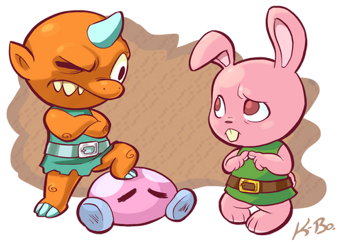 Legend of Zelda A Link to the Past Bully + Bunny