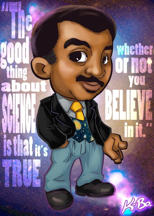 Neil deGrasse Tyson Art Card by K-Bo. by kevinbolk