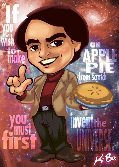 Carl Sagan Art Card by K-Bo. by kevinbolk