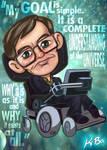 Stephen Hawking Art Card by K-Bo.