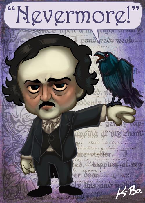 Edgar Allan Poe Art Card by kevinbolk