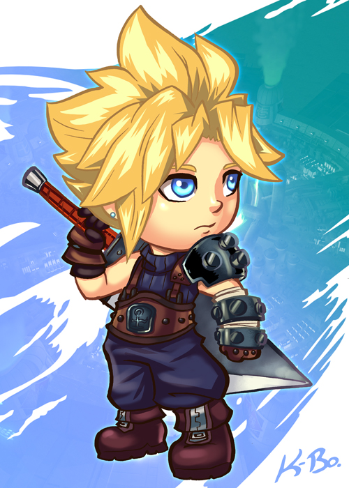 Final Fantasy 7 Cloud Strife Art Card by kevinbolk