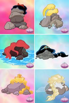 Disney Princess Pile of Rocks