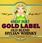 Legend of Zelda Link to the Past Liquor Label