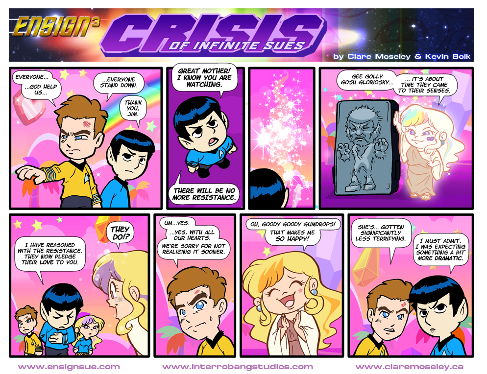 Ensign Cubed Crisis of Infinite Sues 38 by kevinbolk