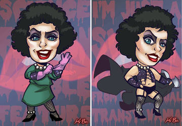 Rocky Horror Picture Show Frank N Furter Art Card