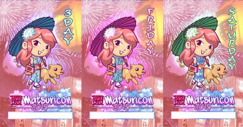 Matsuricon 2015 Attendee Badge Variations by kevinbolk