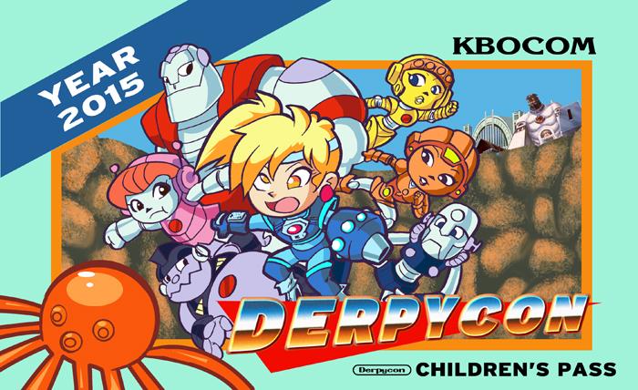 Derpycon 2015 80's 8-Bit Children's Badge Design by kevinbolk