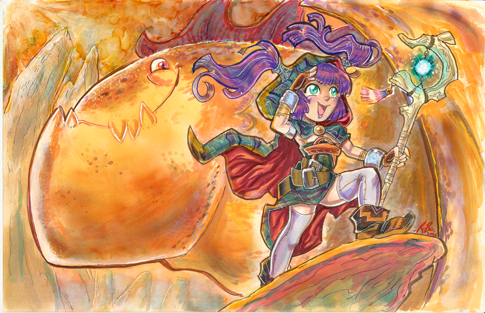Anime St. Louis ''High Fantasy'' Badge Art 02 by kevinbolk