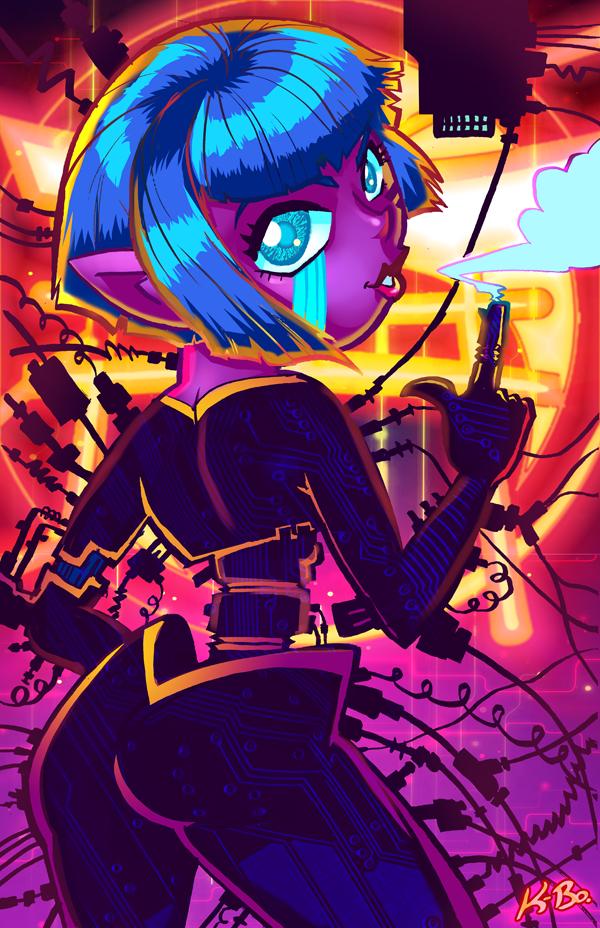 Zenkaikon 2016 Cyberpunk Femme Fatale by kevinbolk